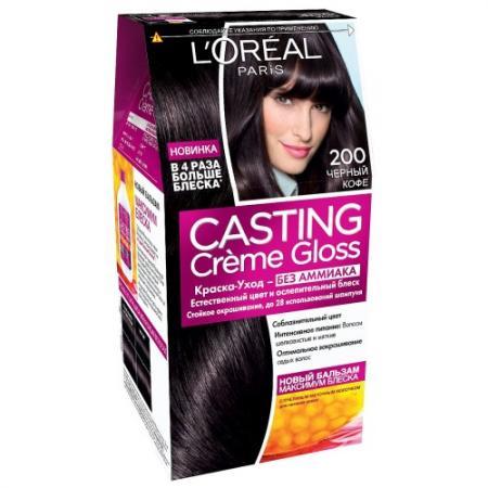 Фото LOREAL CASTING CREME GLOSS Крем-краска для волос тон 200 черный кофе