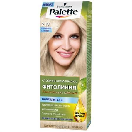 Palette ФИТОЛИНИЯ 219 Холодный блондин 110 мл palette фитолиния 500 темно русый110 мл