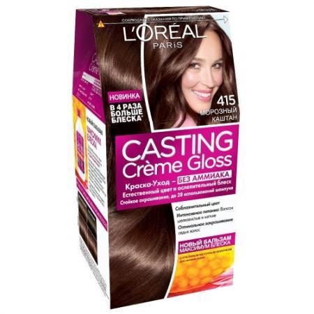 LOREAL CASTING CREME GLOSS Крем-краска для волос тон 415 морозный каштан l oreal краска для волос casting creme gloss 515 морозный шоколад