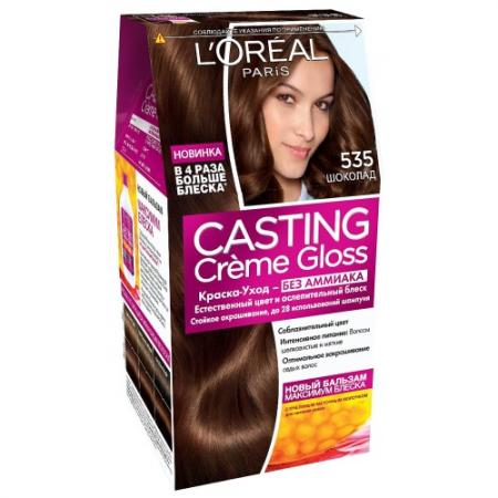 LOREAL CASTING CREME GLOSS Крем-краска для волос тон 535 шоколад свитер детский nike 666232 535 666232 535 891 405