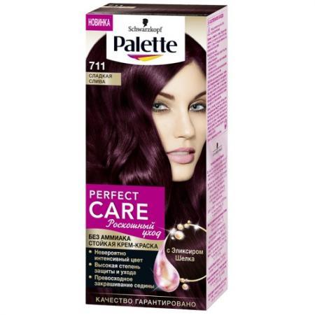 PALETTE PERFECT CARE крем-краска 711 Сладкая слива 110 мл palette perfect care 855 золотистый темный мокко 110 мл