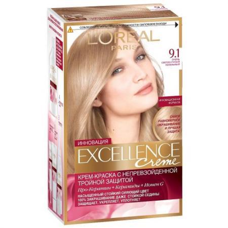 Картинка для LOREAL EXCELLENCE Краска для волос тон 9.1 очень светло-русый пепельный