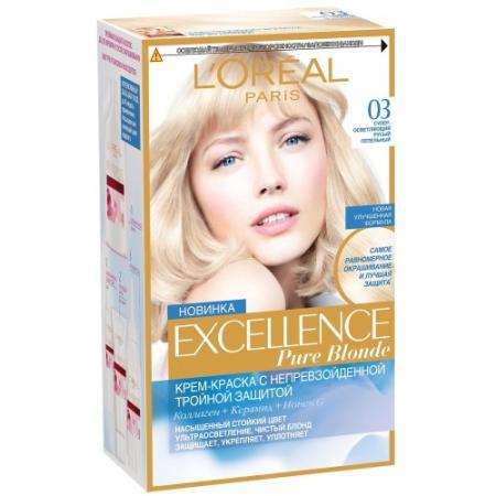 Картинка для LOREAL EXCELLENCE Краска для волос тон 03 супер-осветляющий русый пепельный