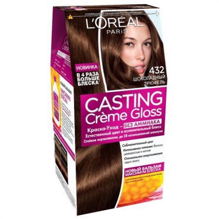 LOREAL CASTING CREME GLOSS Крем-краска для волос тон 432 Шоколадный трюфель тональные средства loreal paris тональный крем infaillible loreal