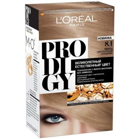 LOREAL PRODIGY Краска для волос тон 8.1 кварц комплект фреска тон кварц