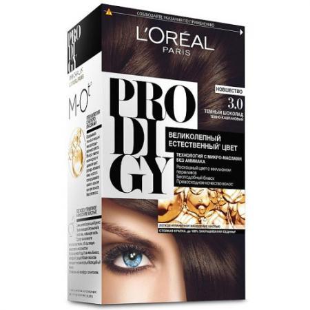 LOREAL PRODIGY Краска для волос тон 3.0 темный шоколад краска mastergood эластичная резиновая темный шоколад 2 4кг