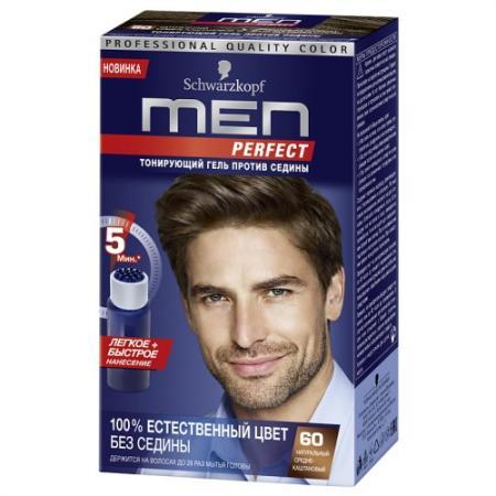 MEN PERFECT 60 Тонирующий гель для мужчин Средне-каштановый 60 80мл дуовит для мужчин 60 таблетки
