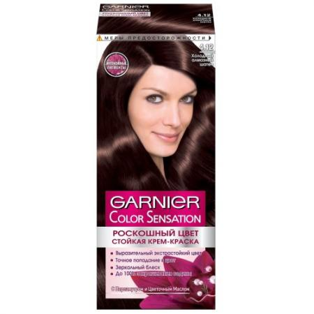 GARNIER Краска для волос Color Sensation 4.12 Холодный алмазный шатен garnier краска для волос color sensation 7 40 янтарный ярко рыжий