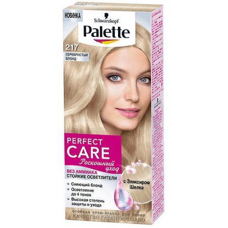 PALETTE PERFECT CARE Крем-краска 217 Серебристый блонд 110 мл palette perfect care 855 золотистый темный мокко 110 мл