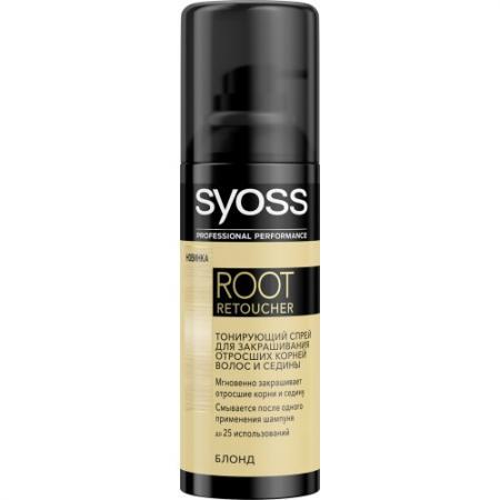 Syoss Root Retoucher Тонирующий спрей для закрашивания отросших корней и седины Блонд спрей тонирующий syoss root retoucher каштановый 120мл активатор цвета