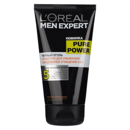 LOREAL MEN EXPERT Гель для умывания Пюр Пауэр Черный уголь 150мл female pelvic fetal model nine months of pregnancy fetus uterine embryo development model fetal development model gasen sz017