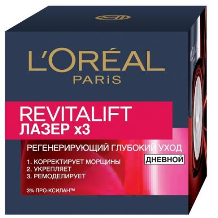 LOREAL DERMO-EXPERTISE REVITALIFT Лазер 3 крем дневной для лица регенерирующий 50мл