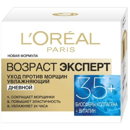 LOREAL DERMO-EXPERTISE Крем для лица Возраст эксперт 35  всех типов кожи 50 мл