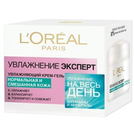 LOREAL DERMO-EXPERTISE Крем-гель для лица для нормальной и смешанной кожи 50 мл