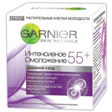 GARNIER Крем дневной Клетки Молодости Интенсивное омоложение 55 50мл garnier крем для лица антивозрастной уход интенсивное омоложение 55 дневной 50 мл