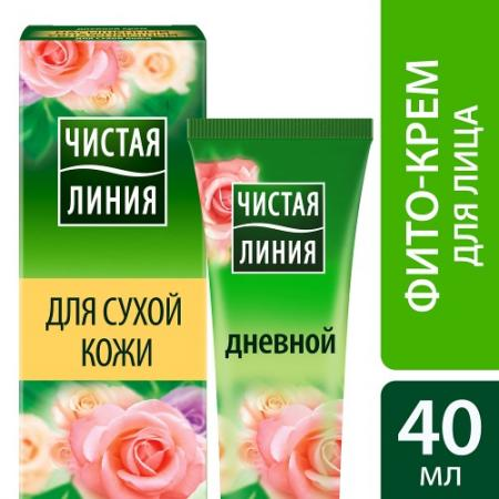 ЧИСТАЯ ЛИНИЯ Крем для сухой кожи увлажняющий дневной 40мл