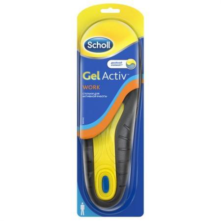 Scholl GelActiv Work Стельки для активной работы для мужчин dr scholl scholl 60ml
