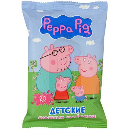 Салфетки влажные Авангард Peppa Pig 20 шт не содержит спирта ароматизированная влажная 4620016300381 салфетки влажные авангард 48107 15 шт влажная