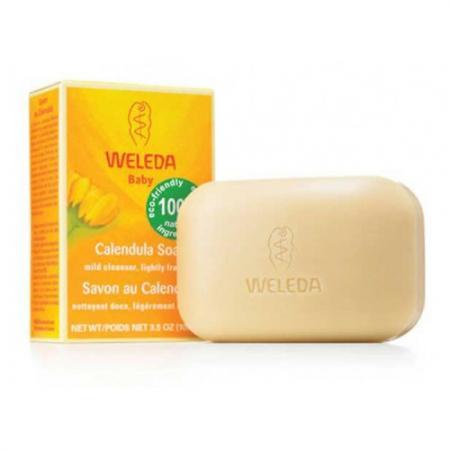 WELEDA Растительное мыло с календулой и лекарственными травами 100 г косметика для мамы weleda растительное мыло розмариновое 100 г