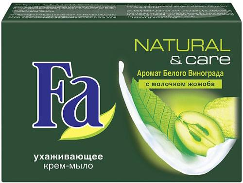 Картинка для Fa Крем мыло Natural & Care Белый Виноград и Молочко Жожоба 90гр