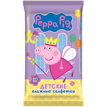Салфетки влажные Авангард Peppa Pig 20 шт не содержит спирта влажная 30161 салфетки влажные авангард diva влажная 20 шт