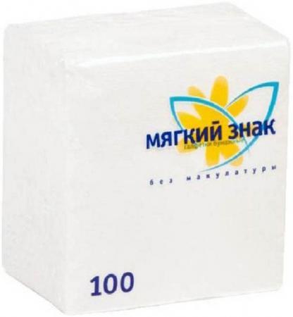 Салфетки бумажные Мягкий Знак 100 шт без отдушки