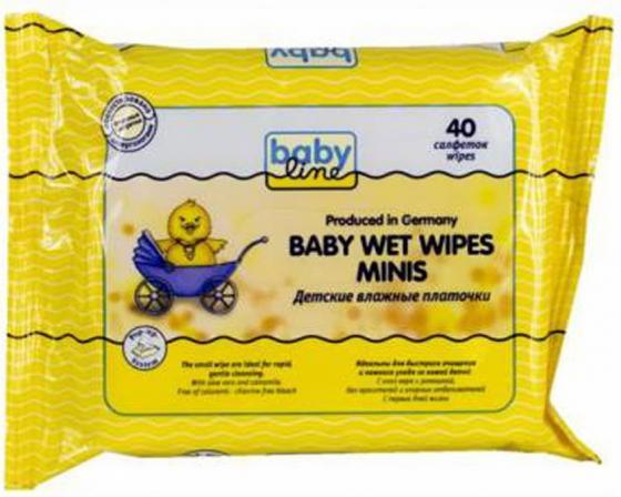BABYLINE Влажные платочки детские 40шт