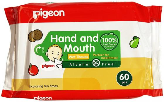 PIGEON Салфетки влажные детские 60 шт
