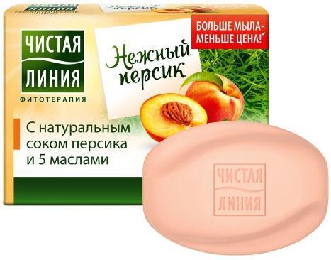 ЧИСТАЯ ЛИНИЯ Косметическое мыло Персик 90гр