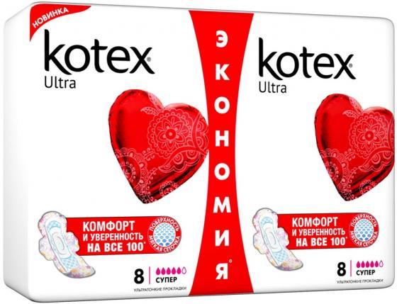 Kotex Прокладки гигиенические Ультра Драй Супер 16шт прокладки naturelle ультра макси дуо 16шт