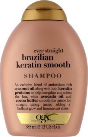 OGX Шампунь Разглаживающий для укрепления волос Бразильский кератин, 385 мл кератин для волос 30 мл gemene кератин для волос 30 мл