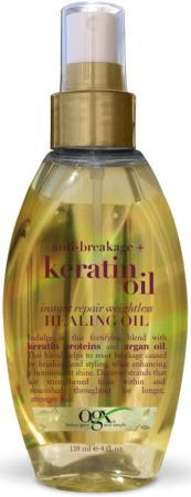 OGX Масло-спрей Легкое кератиновое против ломкости волос Мгновенное восстановление, 118 мл кератиновое восстановление волос