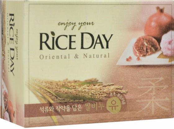 Мыло туалетное CJ Lion Rice Day с экстрактом граната и пиона 100