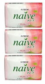 Туалетное мыло Kracie Naive с экстрактом персика 90 г x 3 шт