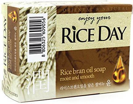 Мыло туалетное CJ Lion Rice Day с экстрактом рисовых отрубей 100 г косметика для новорожденных saraya arau baby туалетное мыло для малышей 85 г х 2 шт