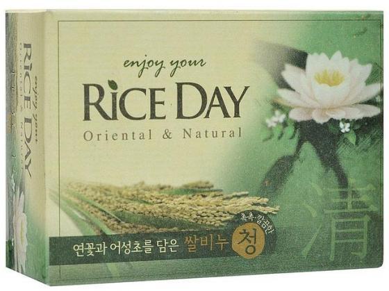 Мыло туалетное CJ Lion Rice Day экстракт лотоса 100 г cj lion мыло туалетное с эффектом скраба пять злаков riceday 100 г