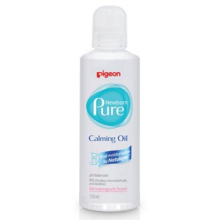 PIGEON Успокаивающее масло Newborn Pure Calming Oil, 0 мес. детский крем pigeon защитный newborn pure protective cream 0 мес 50 мл