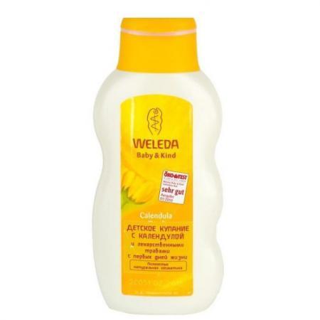 WELEDA Детское купание с календулой и лекарственными травами 200 мл weleda массажное масло с арникой 200 мл