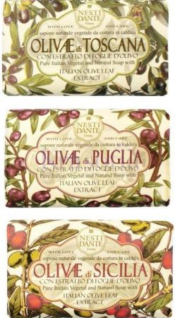 Мыло твердое Nesti Dante Olivie / ОЛИВА (Сицилийская олива, Олива из Апулии, Тосканская олива) 150 г