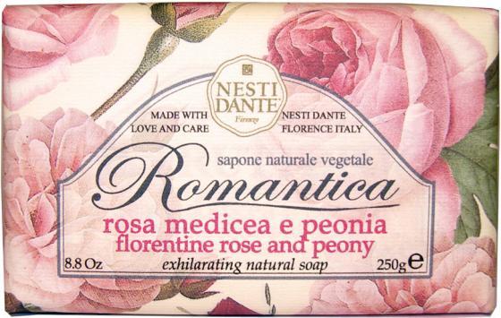 Мыло твердое Nesti Dante Florentine Rose & Peony / Флорентийская роза и пион 250 гр 1312106 heine c florentine nights