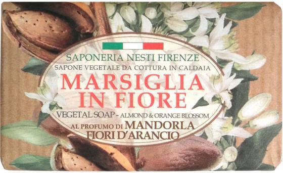 Мыло твердое Nesti Dante Almond & Orange Flowers / Миндаль и цветы апельсина 125 гр 1080126 mini artificial flowers orange