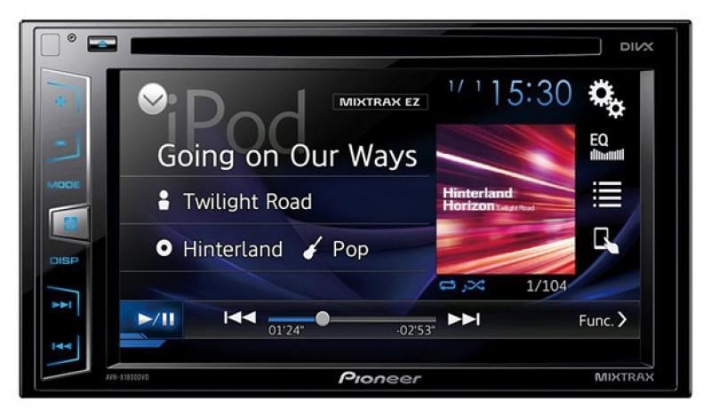 Автомагнитола Pioneer AVH-X1800DVD 6.2 USB MP3 CD DVD FM 2DIN 4x50Вт черный блокада 2 dvd