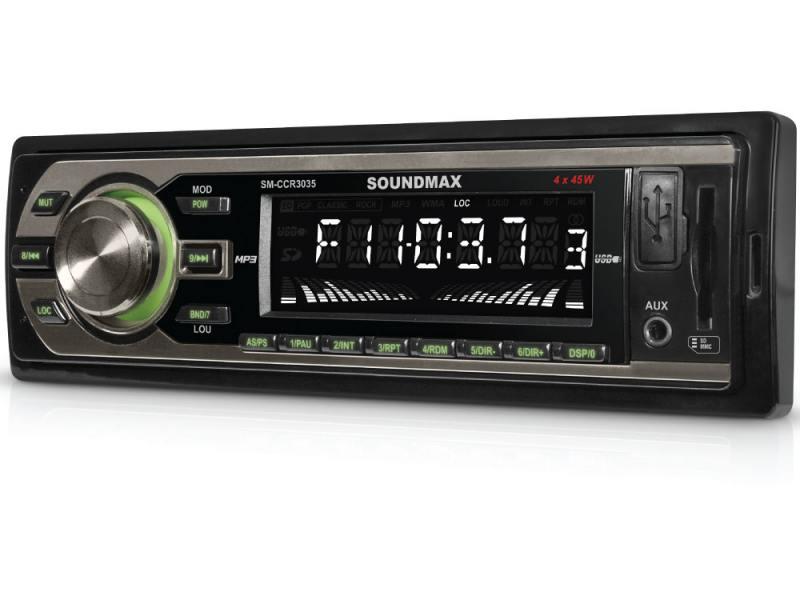 Автомагнитола Soundmax SM-CCR3035 FM 1DIN 4x45Вт черный