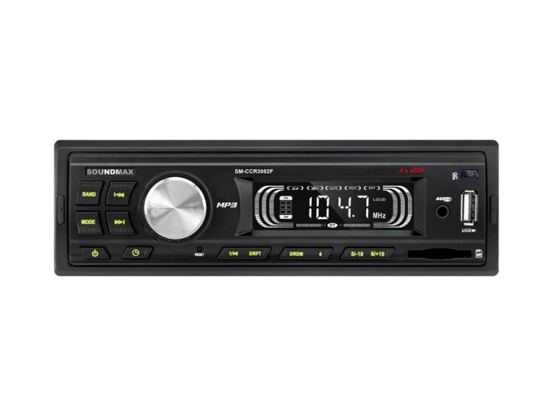 Автомагнитола Soundmax SM-CCR3052F USB MP3 FM SD 1DIN 4x45Вт черный
