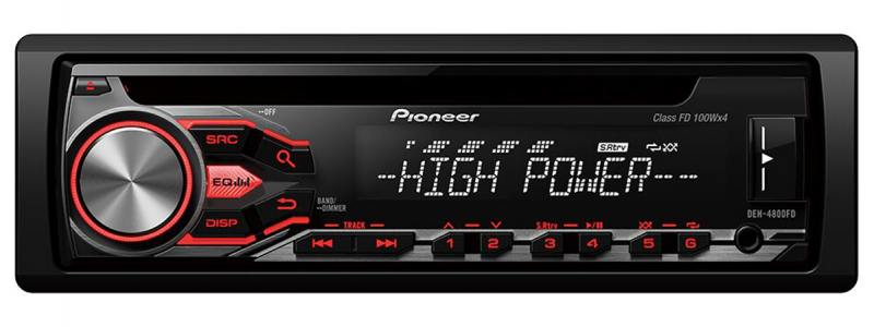 Автомагнитола Pioneer DEH-4800FD USB MP3 CD FM RDS 1DIN 4x100Вт пульт ДУ черный помада maybelline new york maybelline new york ma010lwjkz83