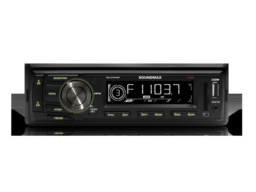 Автомагнитола Soundmax SM-CCR3046F USB MP3 FM RDS SD MMC 1DIN 4x45Вт черный