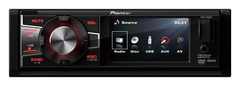 Автомагнитола Pioneer DVH-780AV USB MP3 CD DVD FM 1DIN 4x50Вт пульт ДУ черный автомагнитола kenwood kmm 103gy usb mp3 fm 1din 4х50вт черный