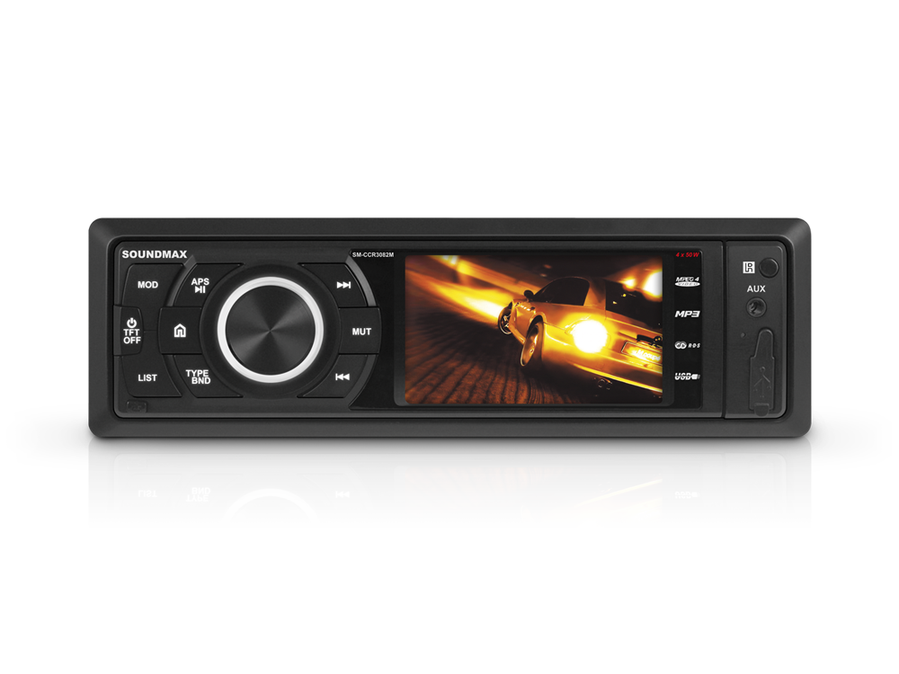 Автомагнитола Soundmax SM-CCR3082M USB MP3 FM RDS SD MMC 1DIN 4x50Вт черный