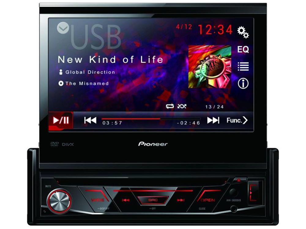 Автомагнитола CD DVD Pioneer AVH-3800DVD 1DIN 4x50Вт pioneer avh x8600bt купить в саратове