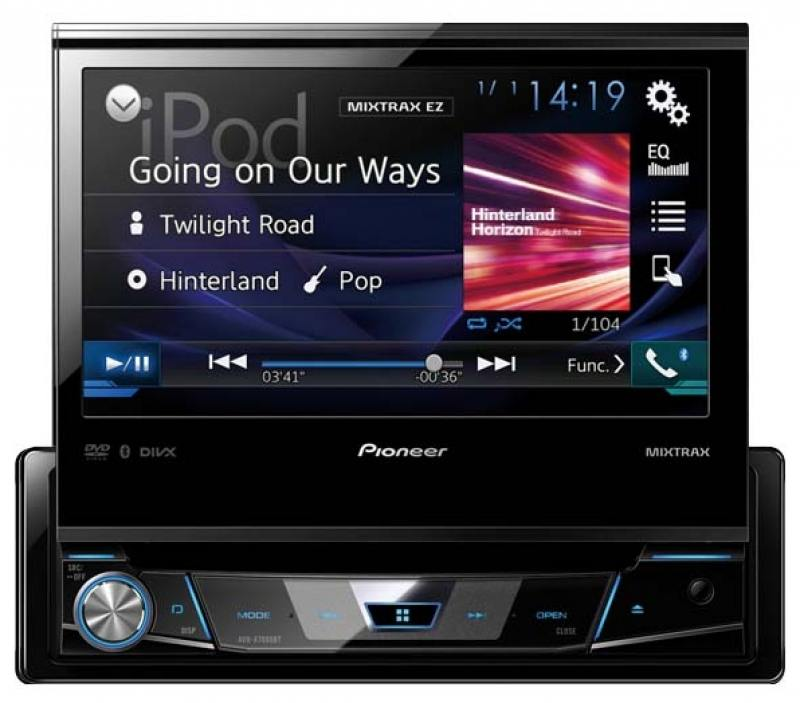 Автомагнитола Pioneer AVH-X7800BT 7 800x480 USB MP3 CD DVD FM RDS 1DIN 4x50Вт черный te765 etp 7 inch 800x480 ethernet hmi touch screen te765 etp new with usb program download cable fast shipping